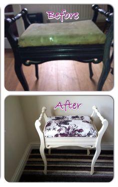 Upcycled piano stool