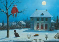 Stille Nacht: Illustration by Gerhard Glück (11,5 x 17 cm Klappkarte mit Umschlag, €2.20) #illustration #GerhardGlueck #Christmas
