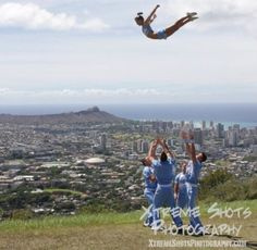 REPIN if this looks like fun!  It's proof that cheerleaders can fly ;-)