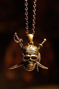"Pirates Of The Caribbean CAPTAIN JACK SPARROW Rhinestone Enamel 2/"" Charm Pendant"