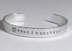 Medical Alert Hand Stamped Cuff Bracelet by DolphinMoonCreations