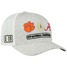 5307ea34a05 Top of the World Alabama Crimson Tide vs. Clemson Tigers Gray College  Football Playoff 2019 National Championship Dueling Adjustable Hat