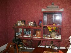 This antique Popcorn Wagon is in my diningroom....a great display case and conversation piece!