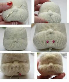 Mesmerizing Crochet an Amigurumi Rabbit Ideas. Lovely Crochet an Amigurumi Rabbit Ideas. Amigurumi Doll, Amigurumi Patterns, Doll Patterns, Crochet Patterns, Afghan Patterns, Crochet Crafts, Crochet Dolls, Crochet Projects, Knitted Dolls Faces