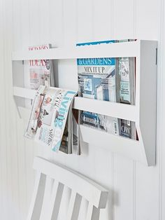 Hand-crafted from solid Birch, this stylish wall magazine rack will be the perfect place to store your favourite magazines and newspapers.