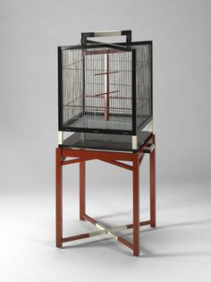 LeGrain (French , 1889 - Bird Cage on Stand 1918 - 1922 Art Nouveau Furniture, Metal Furniture, Furniture Design, Bird Cage Stand, Chinese Element, Chinese Furniture, Wooden Dining Tables, Asian Decor, Chinese Style