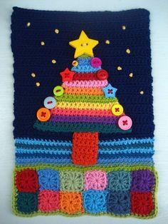 crocheted christmas card - Tarjeta de Navidad hecha en ganchillo o crochet