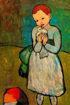 I've always loved this painting- the innocence/peacefulness. Child with a Dove, Pablo Picasso. Guadalupe Ferrer via Joanne Eather