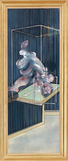 Francis Bacon, Two Figures (1975). Oil on canvas, 77⅝ x 27¾in. (197.2 x 70.3cm.)