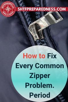Isn't it annoying when the zipper on your jeans, hoodie, bag, or pouch starts playing up? Most of us toss out the item with the faulty zipper without even attempting to fix it. This post by SHTF Preparedness is filled with tips and tricks that will help you fix every common zipper problem. Take a look to find out more. #zipper #zipperproblem #zipperissue #fixingazipper Best Money Saving Tips, Useful Life Hacks, Shtf, Easy Diy Projects, Lifehacks, Frugal, Diy Ideas, How To Find Out, Pouch