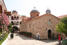 St. David's Monastery in Euboea, Greece.