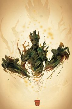 I love this movie, but, all the time I was waiting for Groot to do something EPIC, but then... [spoiler] Hie died... :/