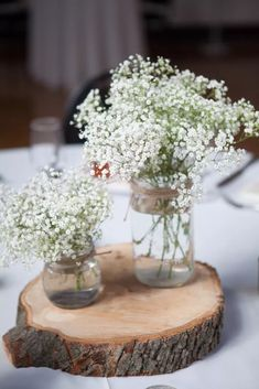 rustic mason jar babys breath and wood centerpieces – Wedding Centerpieces Pumpkin Centerpieces, Mason Jar Centerpieces, Wedding Table Centerpieces, Table Decorations, Centerpiece Ideas, Wedding Decorations, Sunflower Centerpieces, Quinceanera Centerpieces, Diy Hanging Shelves