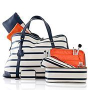 Audrey Striped Weekender - the ultimate travel accessories