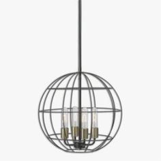 Uttermost 22023 Palla - Four Light Sphere Pendant #industrial #pendant #uttermost #canada #lighting #decor #home PLUS canadalightingexperts.com Pinterest friends save 15% site with coupon code PIN15!
