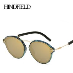 a6d325432c HINDFIELD Luxury Round Sunglasses Women 2017 Fashion Brand Design Steampunk  Sun Glasses Female gafas de sol mujer-in Sunglasses from Women's Clothing  ...