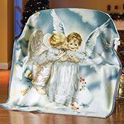 Sandra Kuck Kissing Angel Fleece Throw Blanket; $11.99