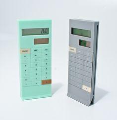 Slim calculators can slide onto your portfolio cover for portable calculating