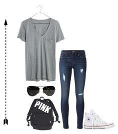 Untitled #226 by matilda131 on Polyvore featuring Madewell, Hudson, Converse, Victoria's Secret and Ray-Ban