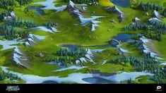 ArtStation - Nords World map. Heroes of the North. Plarium, Olga Skrynnik