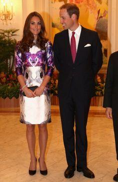 Duke & Duchess of Cambridge in Singapore....Kate Middleton looks FAB in Prabal Gurung