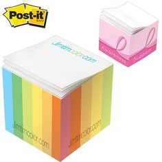 NEW Promotional Post-it 2.125x2.125x2 Mini Sticky Note Cube #logo #office #promoproducts #marketing | Customized Post-It Adhesive Note Cubes | Promotional Adhesive Note Cubes