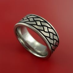 Titanium Celtic Band Infinity Symbolic Wedding Ring Custom Made to Any Size and Color