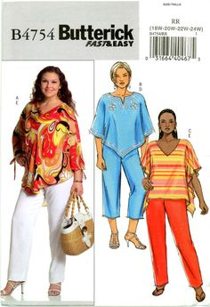Butterick B4754 Easy Top and Pants