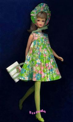 Francie, dressed for spring!  From the collection of Gene Foote.