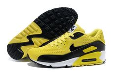 the latest aeae7 cc920 Nike Air Max 90 Premium Em Unisex Yellow Black Running Shoes Uk