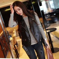 leather vests women