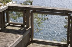 I love this simple design for a deck railing--another Schubart classic