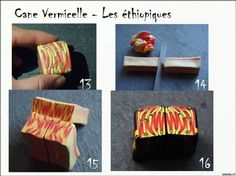 Cane in the art kaleidoscope for jewelry. - Cane (sausage, cane) from polymer clay - Polymer Clay - Publisher - Rukodel.TV