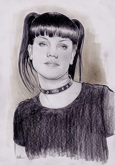 Pauley Perrette, Abby Sciuto, Pencil on paper, inches Abby Sciuto, Pauley Perrette, Ncis, Sketch, Paper, Artwork, Cards, Sketch Drawing, Work Of Art