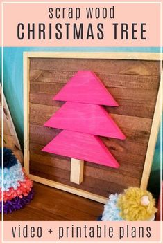 Turn your pile of scrap wood into an easy holiday woodworking project! This simple DIY framed Christmas tree is the perfect project to use up some scrap wood and create custom holiday decor. Follow along with the easy woodworking tutorial and woodworking video.