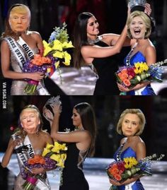 "Jenzel no Twitter: ""Election 2016 be like 😅 #Trump #America #Election2016 #MissUniverse https://t.co/XdpuAT08id"" ."