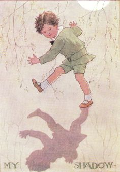 My Shadow Margaret Tarrant Boy Illustration, Antique Pictures, English Artists, Antique Prints, Nursery Prints, Vintage Children, Vintage Art, Illustrators, Book Art