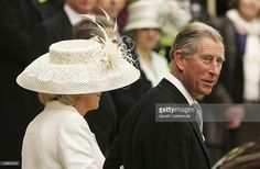 Prince Charles The Duchess of Cornwall Camilla Parker Bowles depart the Civil Ceremony where they...