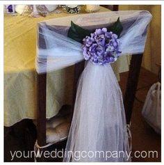 Centros de mesa para boda: Decoración de sillas para la boda