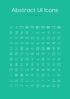 120 Abstract Icon Set DOwnload: http://graphicsbay.com/item/120-abstract-icon-set/57