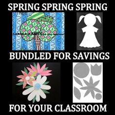 """BUNDLES SAVE YOU MONEY - AND THIS IS NO EXCEPTION!  End the year with 4 fun, creative art lessons for your classroom.  Patterns, printables, samples,  and step by step instructions are included to make it """"easy-art with little prep time"""" for you!"""