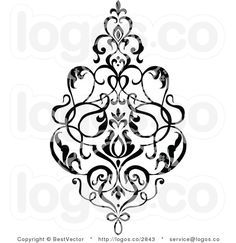 Damask Design - this would be great on my closet doors!