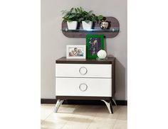 Noční stolek Delia Nábytek Delia je moderním řešením s nádechem retra do vaší ložnice. Designem patří kolekce mezi představitele retro stylu, který působí originálně. Kombinace čistých linií s čokoládově hnědým dekorem s bílým vysokým leskem … Nightstand, Table, Furniture, Design, Home Decor, Decoration Home, Room Decor, Night Stand, Home Furniture