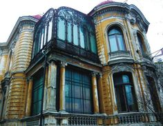 """The Macca House from Bucharest, Romania Built between designed by the Romanian architect Ion D. Berindey in Eclectic style with Art-Nouveau and Baroque influences, it hosts today the Institute of Archaeology """"Vasile Pārvan"""". Little Paris, Bucharest Romania, House Built, City Break, Abandoned Buildings, Eclectic Style, Archaeology, Facade, Art Nouveau"""