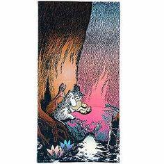 【ムーミン】「トーベ・ヤンソン展」限定バスタオル(森のクッキング/ムーミン&スナフキン&スニフ)