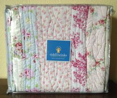 I am in love with this crib bedding. Tiddliwinks COTTAGE CHIC 4 PC Crib Set Bumper Quilt Vintage Shabby Baby Bedding