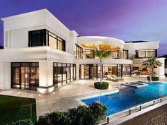 Dream House Exterior, Dream House Plans, Modern House Plans, Modern House Design, House Outside Design, Luxury Homes Dream Houses, Dream Homes, Modern Mansion, Mansions Homes