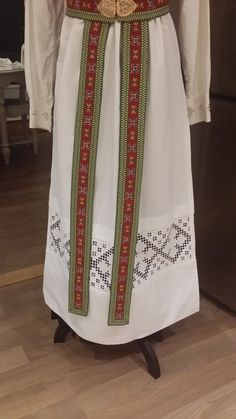 Hardanger Embroidery, Norway, Apron, Fashion, Blouses, Moda, Fashion Styles, Pinafore Apron, Fashion Illustrations
