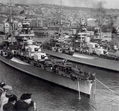 Italian 8in heavy cruisers Fiume, Pola and Zara (the latter lead ship of the 4 ship class) - all three were sunk with heavy loss at the Battle of Cape Matapan in March 1941 when they were caught by surprise at night by radar equipped British battleships: they had no such equipment themselves.