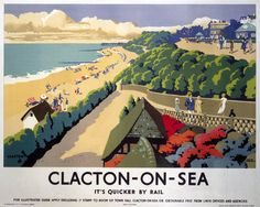 Clacton-On-Sea, England. Englisch Bahnreisen Poster drucken Source by fivefootnone Posters Uk, Railway Posters, Poster Prints, British Travel, British Seaside, British Isles, Beach Park, England, Advertising Poster